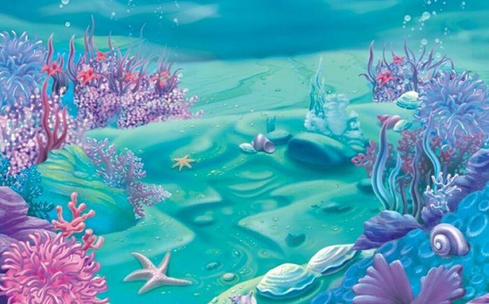 painel 3d sublimado fundo do mar